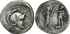 NumisBids: Numismatica Varesi s.a.s. Auction 65, Lot 97 : POMPEO MAGNO - monetario M. Poblicius (46-45 a.C.) Denario. B. 9 ...