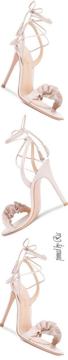 Gianvito Rossi 2017 Leather Ankle-Tie Sandals l Ria