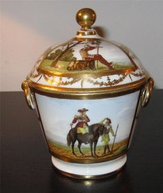 Ed. Honore Porcelain Old Paris Reticulated Bolted Gilt Tazza Compote