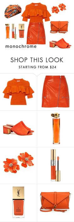"""""""Sin título #541"""" by viviana74 ❤ liked on Polyvore featuring Apiece Apart, River Island, Tory Burch, Givenchy, Kenneth Jay Lane, Yves Saint Laurent, Milly and Dee Di Vita"""