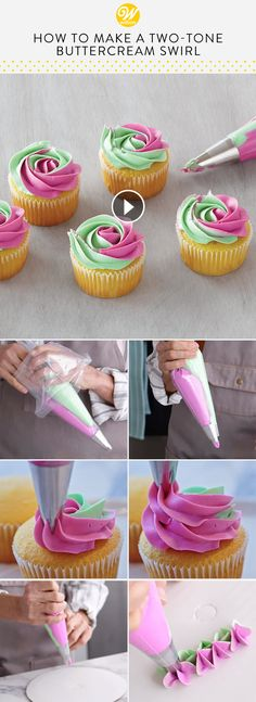 54 Trendy Ideas for cupcakes decoration easy frosting techniques Cupcake Frosting Techniques, Cupcake Decorating Techniques, Cupcake Frosting Tips, Cupcake Piping, Cake Decorating Frosting, Piping Frosting, Frosting Recipes, Cupcake Recipes, Cookie Decorating