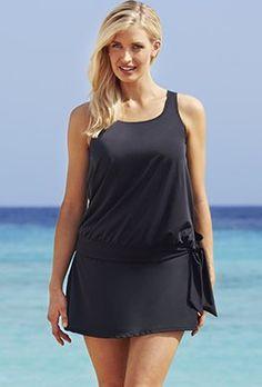 Skirtinis - Beach Belle Black Blouson Skirtini