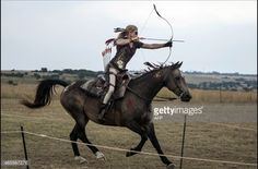 Mounted archery