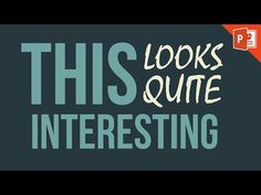 How to make awesome brush photos in powerpoint youtube best simple kinetic typography in powerpoint 2013 powerpoint tutorial youtube toneelgroepblik Image collections