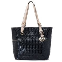 Michael Kors Logo-Print Large Black Totes Outlet