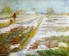 Vincent van Gogh - Paisaje en nieve