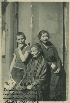 József Attila Hungarian poet with his mother and sister, 1919