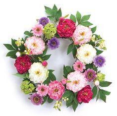 Wreaths For Door - Peony and Daisy Door Wreath, $74.99 (http://www.wreathsfordoor.com/peony-and-daisy-door-wreath/)