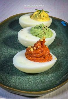 Duivels lekkere eitjes, voor elk feestje - Heerlijke Happen Panna Cotta, Ethnic Recipes, Food, Dulce De Leche, Meals, Yemek, Eten