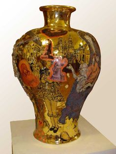 GRAYSON PERRY - my favorife artist from the UK - Ceramic Urns - you must look close!