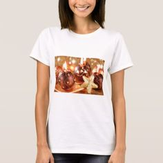 Merry Christmas Candles and Stars T-Shirt - love gifts cyo personalize diy