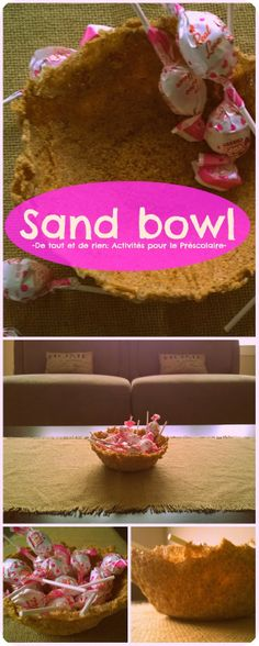 Making a sand bowl. Fun summer project for kids. Only 2 ingredients required :)