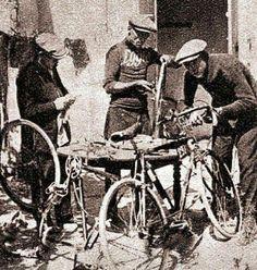 Old school bike mechanics...