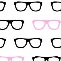 Geek Glasses Seamless Pattern - Background Labs