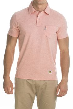 Polo Pocket clean; light pink.