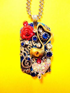 Music Dog Tag Pendant Number 1193 by BradosBling on Etsy, $39.99