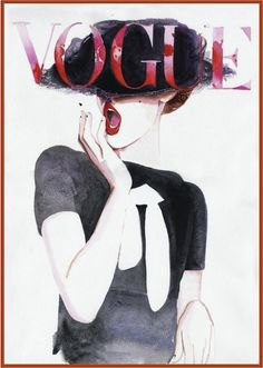 Vogue fashion painting by Catie Parr on Etsy - i want to have this painting in my room