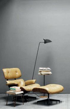 designer sessel Eames Lounge Chair leseecke