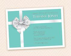 Tiffany Blue Bridal or Wedding Shower Invitation - Printable D.I.Y.