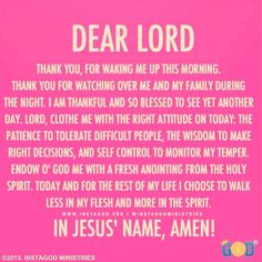Dear Lord, thank you for waking me up this morning. #thankful #goodmorning