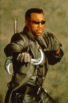Eric Brooks was the vampire hunter known as Blade. Blade Film, Blade Movie, Dc Movies, Marvel Movies, Marvel Universe, Eric Brooks, Expendables, Blade Marvel, Day Walker