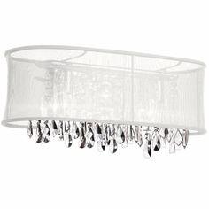 Dainolite Lighting (85324W-46-119) Bohemian 4 Light Crystal Vanity Fixture