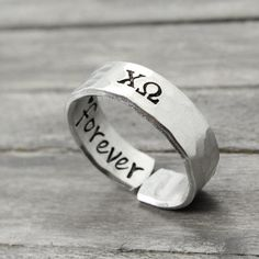 Chi Omega Infinity Ring