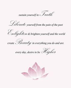 Higher Self, Lotus affirmation card. Zen Meditation, Affirmation Cards, Note Cards, Affirmations, The Past, Self, Positivity, Notes, Peace