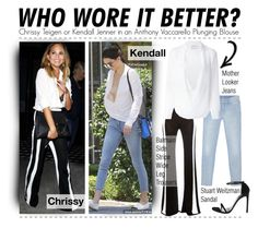 """""""Who Wore It Better- Chrissy Teigen or Kendall Jenner"""" by jumping-through-hoops ❤ liked on Polyvore"""