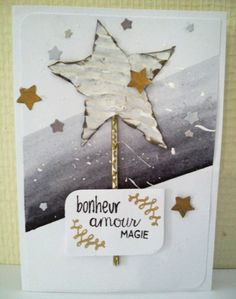 For a magical new year, a free style card, scrapbooking