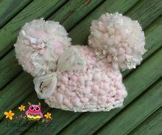 Baby Pompom HatMerino WoolRecycled Sari Silk by Doodlebopperz, $30.00