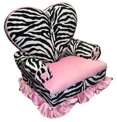 Harmony Kids Princess Heart Chair Minky - Zebra and Hot Pink - Childrens Chairs at Hayneedle Babies R Us, Baby Kids, My Baby Girl, Baby Love, Zebra Chair, Zebra Print, Little Princess, Kids Bedroom, Bedroom Ideas
