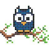 pixel art hiboux