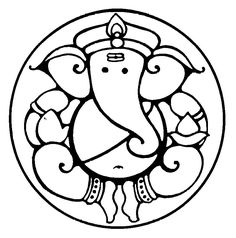 Symbolism of Lord Ganesha's form  ganesha clip art round