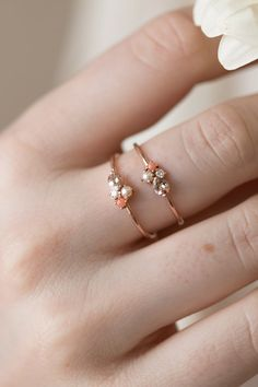 Our mini cluster rings are the perfect way to treasure a group of your favorite gemstones and birthstones while maintaining a minimal look.