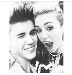 Image about cute in Miley Cyrus 💎 by Gabriela Vargas ☮☯ Celine Dion, Justin Bieber Miley Cyrus, Justin Love, Love Him, My Love, I Ship It, Marvel, Cute Couples, Find Image