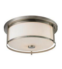 Z-Lite Savannah 3 Light Flush Mount in Brushed Nickel 412F16 #lightingnewyork #lny #lighting