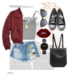 """Untitled #61"" by clodfever on Polyvore featuring Topshop, Converse, GRETCHEN, Fendi, Sonal Bhaskaran, Lime Crime and Nixon"