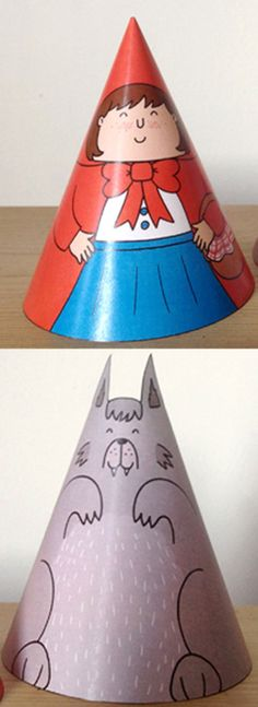 Little Red Riding Hood Cone Characters Craft
