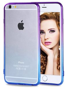 """iPhone 6s Plus Case, Vofolen Gradient Colorful iPhone 6s Plus Case Clear Slim Cover Soft Bumper Armor Impact Resistant Protective Hard Shell Case for iPhone 6 Plus 6S Plus 5.5"""" -Purple Blue. [Gradient/Translucent] Case, stylish skin for iPhone 6 Plus, keep the phone's original look. Slim-Fit flexible and durable TPU bumper & Hard PC back cover, case won't deformed. TPU cases provide phone with impact resistance & shock absorption against minor drops. Exact cutouts of all ports, camera and..."""