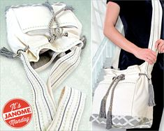 Janome Monday: Belted Cross-Body Bag with Decorative Stitching | Sew4Home