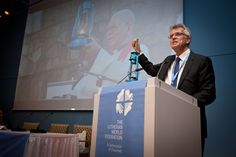 LWF General Secretary, Rev. Dr Martin Junge holds up the latern signifying the launch of the Twelfth Assembly.  #Day326 until the Assembly.  #Assembly365 #LWFCouncil #Lutheran