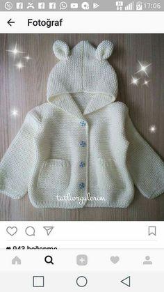 Baby Knitting Patterns, Baby Sweater Patterns, Baby Patterns, Doll Patterns, Crochet Baby, Knit Crochet, Baby Bunting, Baby Presents, Baby Cardigan