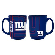 Reflective Mug - New York Giants Show the world you love your team as much as you love your caffeine. Features a reflective print team logo in a full-wrap design, to help you get charged up on game day! New York Giants Football, Football Team, Modern Christmas Ornaments, Christmas Cookies, Nfc East, Adrienne Bailon, New York Jets, Caffeine, Calming