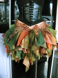 Items similar to High Low Skirt Forest Alice Mad Hatter Festival Viking Cosplay Hippy on Etsy Poison Ivy Costume Diy, Faerie Costume, Woodland Fairy Costume, Renaissance Fairy, Renaissance Festival Costumes, Diy Costumes, Halloween Costumes, Rag Skirt, Viking Cosplay