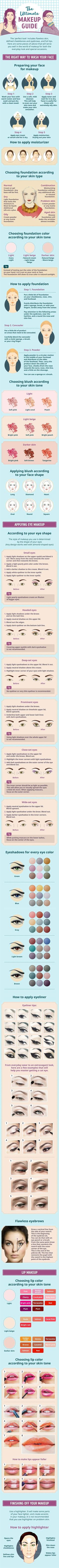Best Makeup Tutorials for Teens -The Ultimate Makeup Guide You Can't Live Without - Easy Makeup Ideas for Beginners - Step by Step Tutorials for Foundation, Eye Shadow, Lipstick, Cheeks, Contour, Eyebrows and Eyes - Awesome Makeup Hacks and Tips for Simple DIY Beauty - Day and Evening Looks http://diyprojectsforteens.com/makeup-tutorials-teens: