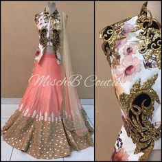 """Pastel Perfect, lehenga by MischB Couture #desicouture #desifashion #desibride #mischbcouture #bollywoodfashion #bollywoodstyle #bollywoodcouture…"""