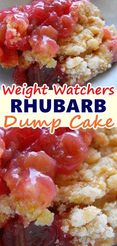 """I must admit that the word """"dump"""" doesn't always conjure up a wonderful mental image, but when I found this pin for Rhubarb Dump Cake I knew that I wanted to try it because it looked so easy! An is part of Rhubarb dump cakes - Desserts Keto, Just Desserts, Delicious Desserts, Dessert Recipes, Yummy Food, Snacks Recipes, Waffle Recipes, Burger Recipes, Recipes Dinner"""