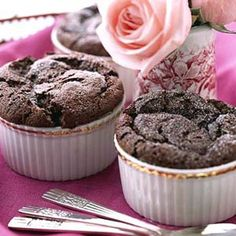 Bittersweet chocolate gives this light and fluffy dessert its deep, dark chocolate color and flavor.