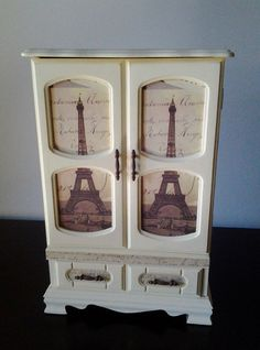 Hand painted Vintage French inspired Jewelry Box by SafeKeepings, $73.00